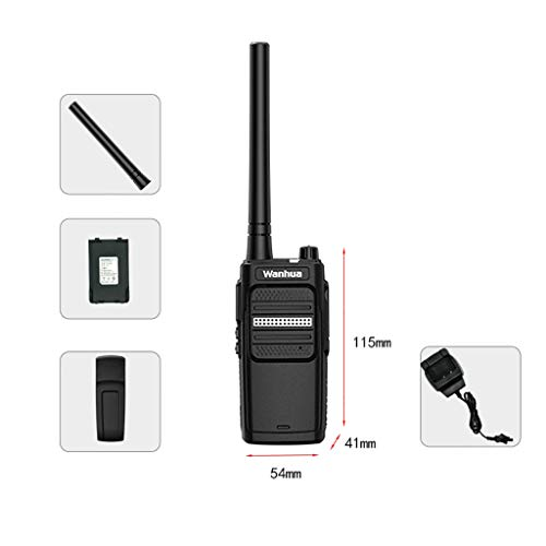Nelc5kl Walkie Talkies Rechargeable Long Range Two-Way Radios with UHF 400-470Mhz Walkie Talkies 4800 mAh Li-ion Battery and Charger Included Radio (Size : E) by Nelc5kl (Image #1)