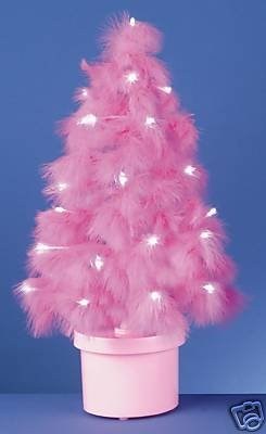 60CM FIBRE OPTIC LIGHT PINK FEATHER CHRISTMAS TREE: Amazon.co.uk ...