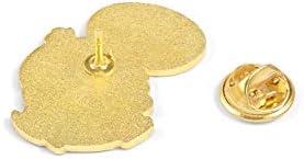 XMSM エナメルブローチバッジ黄色の動物ラペルピン服バックパックバッジジュエリーギフトダック思想におけるおかしいかわいいアヒルピンロスト