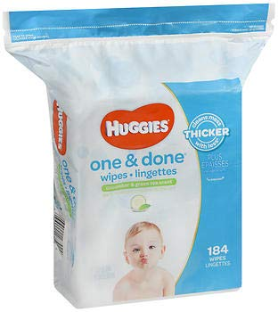 Huggies Naturally Refreshing Wipes 184 CT (Pack of 6) ()