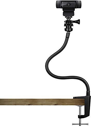 🥇 Pipishell – Soporte para tripode Webcam de 15 Pulgadas con Cuello Flexible y Pinza para Mesa