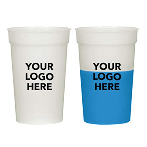 #5925 17 Oz. Color Change Stadium Cup - 50 QTY - $0.99 EA - Promotional Product/Custom/Your Logo/Low Minimums, Blue