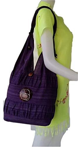 Craving Thai Hill Blue Hippie amp; Elephant Tribe Hobo Cotton Bag Purple Boho Hmong Tote Shoulder Style Rw4Cqrx5w