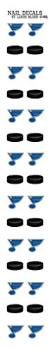 Worthy Promotional St. Louis Blues Nail Sticker Decals ()