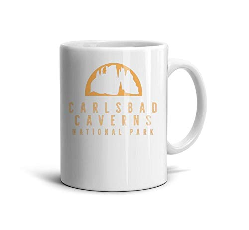 FGBLK Carlsbad Caverns National Park Espresso Cups White Gift 11 Oz Mugs for Women (Crater Mountain Hoodie)