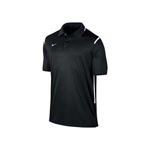 Mens Game Day Polo (New Nike Men's Team Gameday Polo Shirt TM Black/TM White/TM White)