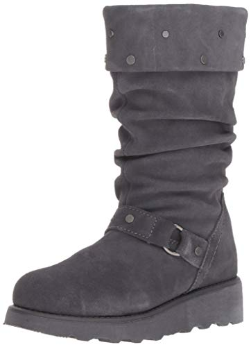 BEARPAW Girls' Eureka Fashion Boot, Charcoal, 13 M US Big Kid