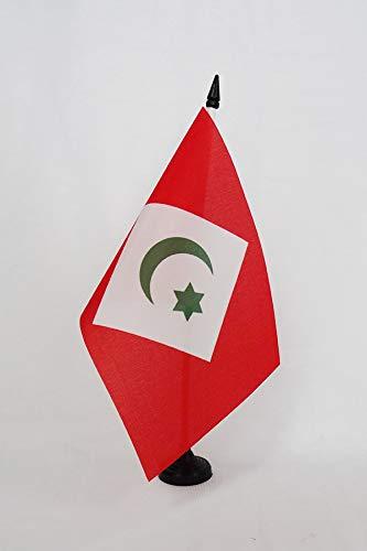 AZ FLAG Drapeau de Table Rif ind/épendantiste au Maroc 21x14cm Petit Drapeaux DE Bureau du RIF 14 x 21 cm