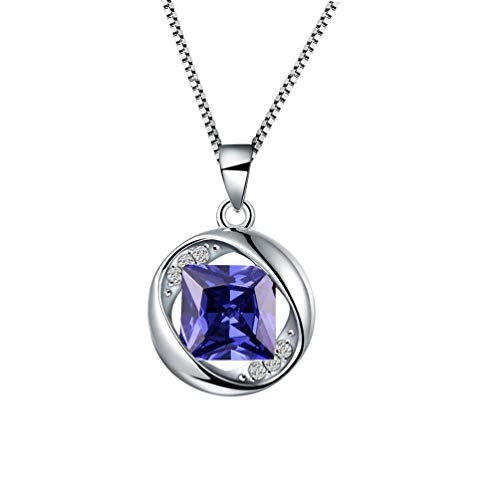 - Aurora Tears June Birthstone Pendants Women Birthday Necklaces Girls Birthstones Dating Gift Jewelry Created-Light-Amethyst Necklace DP0029U