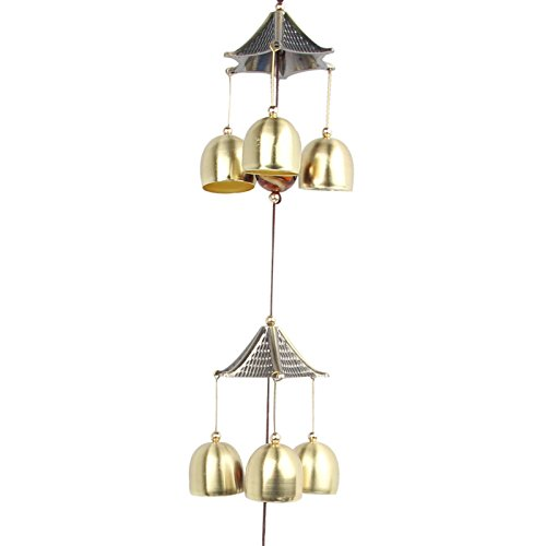 Sun Cling Great Sound Bronze Color Temple Bells Wind Chimes Windchimes