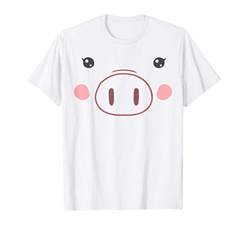 Pig Face Mask Emoji (Pig Face T-Shirt | Funny Cute Animal Halloween)
