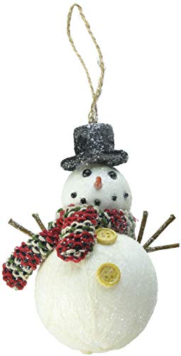 Department 56 Christmas Basics Winter Snowman Hanging Ornament, 4.75