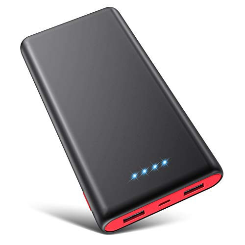Portable Charger Power Bank 25800mAh [Newest Black-Red Fashion Design] High Capacity External Battery Pack with LED…