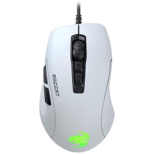 chollos oferta descuentos barato Roccat Kone Pure Ultra Ratón ergonómico para Juegos 16000 dpi Sensor óptico RGB Iluminación Ultra Light Blanco