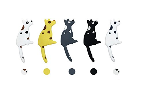 Set of 5 Dog Refrigerator Magnets Hooks,Mexidi Heavy Duty Magnet Calendar Magnet Cabinets Whiteboard Magnets for School Home Office(5Packs, 25.2Inch)