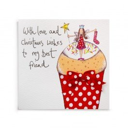 best friend cupcake christmas card
