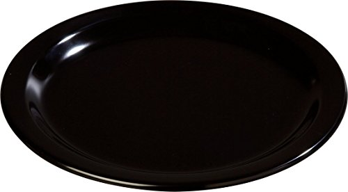 "Carlisle 4350103 Dallas Ware Melamine Dinner Plate, 8.92"" Dia. x 0.80"" H, Black (Case of 48)"