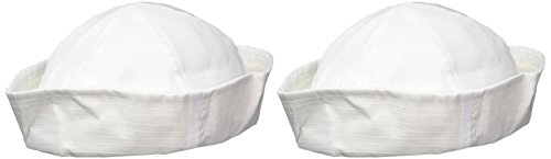US Toy - White Sailor Hat,Made of Cotton,One Size Fits Most,21