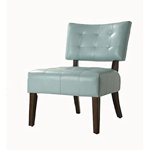 Homelegance Warner Faux Leather Accent Chair Sky Blue & Accent Slipper Chairs: Amazon.com