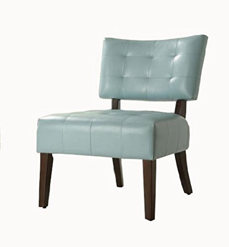 Homelegance Warner Faux Leather Accent Chair, Sky Blue