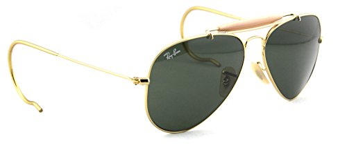 Ray-Ban RB3030 L0216 Aviator OUTDOORSMAN Gold Frame / Classic Green Lens