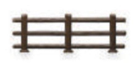 Plastic Split Rail Fence for Cake Decorating - 12 pcs