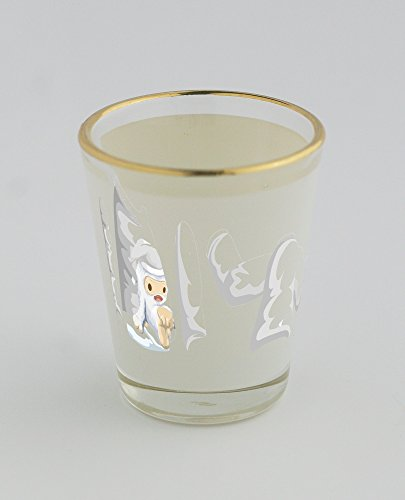Shot glass with gold rim of Avatar Wardrobe Shirt Xmas Yeti (Yeti Christmas Sweater)