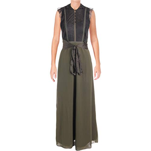 - Juicy Couture Black Label Womens Georgette Sleeveless Maxi Dress Green 2