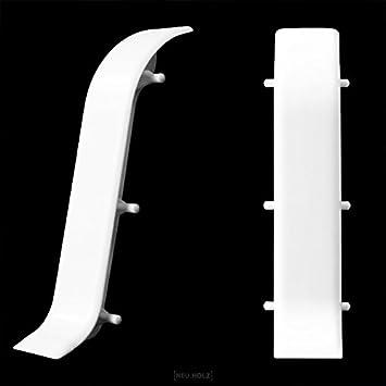 Hervorragend neu.holz] Verbinder für Sockelleisten 60mm Weiß Fußleisten Laminat  BL29