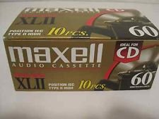 Maxell XLII 60 - Cassette - 1 x 60min - High BIAS (pack of 10 ) by Maxell