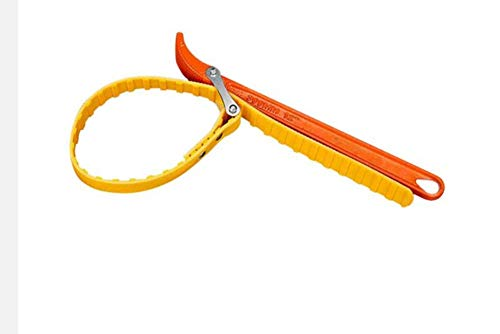 (Oil Filter Strap Wrench Rubber Multi-Purpose Belt Strap Wrench Filter Opener wrench for Opening Filter Pipe (8''))