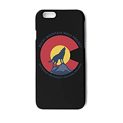 iPhone 8/7 Case Colorado Rocky Mountain Wolf Shock Absorption Technology Bumper Soft TPU Rubber Phone Cover for Apple Slim