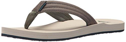 Quiksilver Men's Carver Tropics Sandal, Green/Blue/Grey, 9 M US