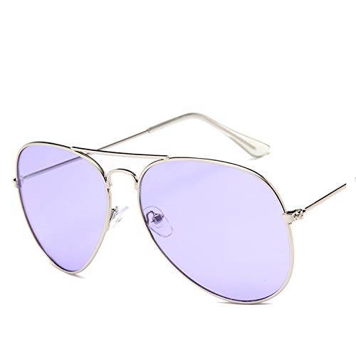 Kurt Cobain Ocean Sunglasses For Women Yellow Sun Glasses Pink Lens Sun Glasses Aviator,SILVER ()