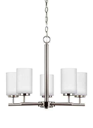 Sea Gull Lighting 31161EN-962 5LT Chandelier, Brushed Nickel