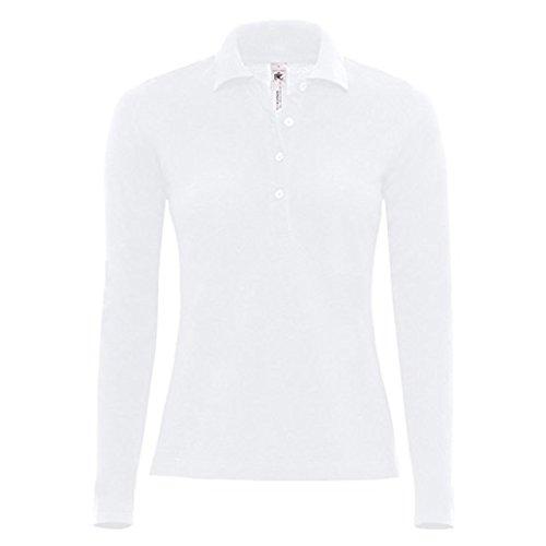 B&C Collection - Camiseta de manga larga - para mujer blanco