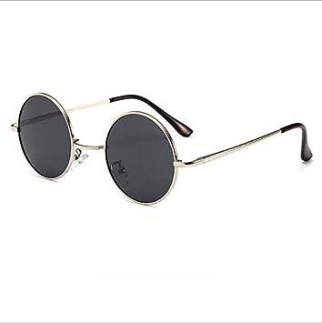 Nuevas Gafas de Sol polarizadas Moda Marco pequeño y Redondo Hombres y  Mujeres Gafas de Sol Personalidad Retro Espejo Prince e9e75814b8f3