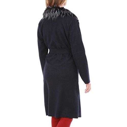 Para Modeuse La Mujer Abrigo Azul ZnxPpxO