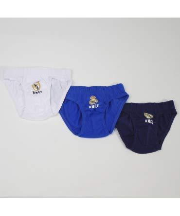 10XDIEZ Slips NIÑO Real Madrid 655 Set 3 Unidades - Talla Slip ...
