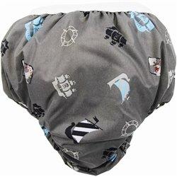 Kushies Potty Taffeta Training Pants - Medium - Charcoal Pirate