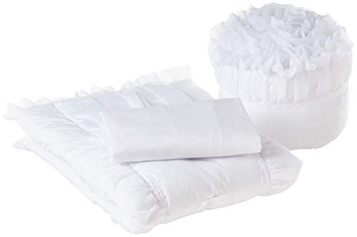 - Baby Doll Sweet Touch Baby 3 Piece Cradle Bedding Set, White