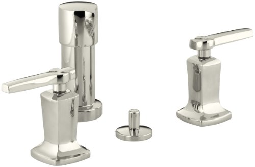 Kohler Bidet Set (KOHLER K-16238-4-SN Margaux Vertical Spray Bidet Faucet with Lever Handles, Vibrant Polished Nickel)