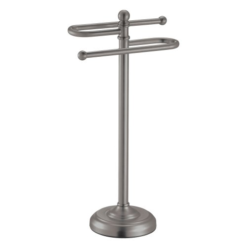 Gatco 1547 Counter Top S Style Towel Holder, Satin Nickel 30%OFF