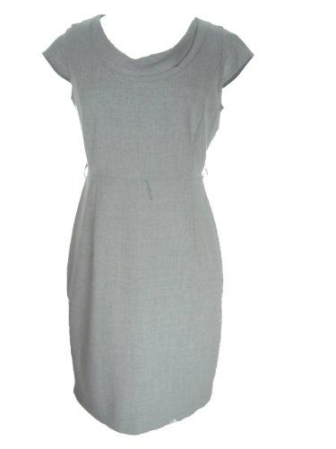 CALVIN KLEIN Women's Cap Sleeve Drape Neck Dress-GREY-10P