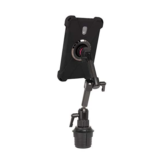 "The Joy Factory MagConnect Carbon Fiber Car/Truck Cup Holder Mount w/aXtion Bold M Water-Resistant Rugged Shockproof Case for Samsung Galaxy Tab A 8"" (MWS3008M) - 31aT8NFAFiL - The Joy Factory MagConnect Carbon Fiber Car/Truck Cup Holder Mount w/aXtion Bold M Water-Resistant Rugged Shockproof Case for Samsung Galaxy Tab A 8″ (MWS3008M)"