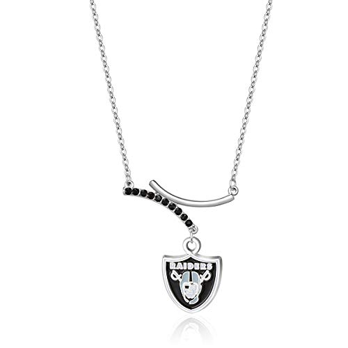 Pro Specialties Group NFL Oakland Raiders Dual Infinity Necklace