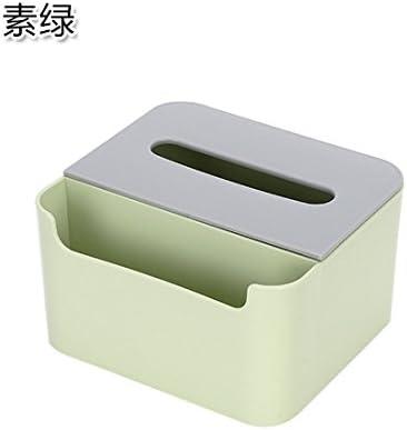 Tejido simple caja almacenamiento caja café Salón libro caja servilletas ordenar cajas de pañuelos de mesa caja Pigmento verde: Amazon.es: Hogar