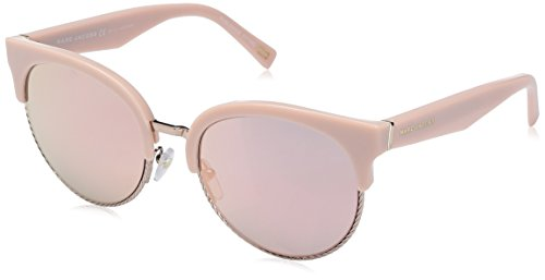 Marc Jacobs Women's Marc170s Round Sunglasses, Pink/Gray Rose Gold, 54 - Designer Usa Sunglasses
