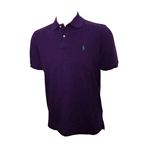 Polo Ralph Lauren Men's Classic Fit Mesh Polo Shirt (Purple, Small) ()