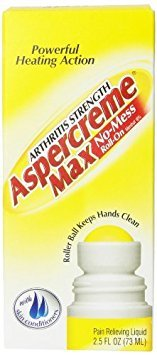 ASPERCREME Max Arthritis Strength No-Mess Roll-On Pain Relieving Liquid 2.5 OZ - Buy Packs and SAVE (Pack of 3)